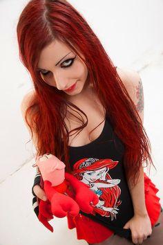 #Mermaid #little #tank #top #redhead #girl