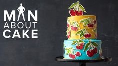 Fresh-Picked Cherry Buttercream Cake 🍒   1 YEAR MAN ABOUT CAKE ANNIVERSARY SURPRISE - YouTube