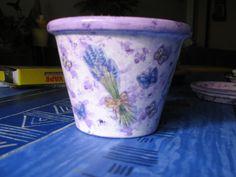 Vaso lavanda decoupage