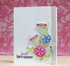 Just Because Card by Laura Bassen for Papertrey Ink (July 2015)