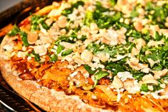 Organic & Vegan Teriyaki Thai Pizza - inspired by the California Pizza Kitchen