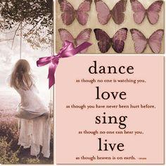dance,love,sing,live