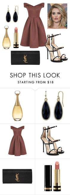 """Untitled #248"" by mar-01 on Polyvore featuring Christian Dior, 1928, Chi Chi, Giuseppe Zanotti, Whiteley, Yves Saint Laurent and Gucci"