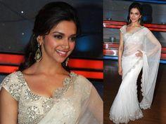 The white Anand Kabra's saree