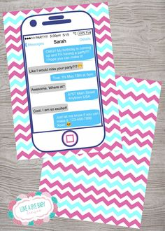 Smart phone cell phone FREE BACKSIDE emoji emoticon teen tween birthday party invitation. printable. digital download by LoveAByeBabyDesigns on Etsy