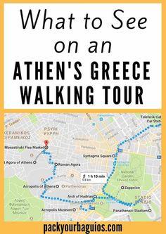 Athen's Walking Tour | Greece Travel | Lycabettus Hill | Syntagma Square | Panathenaic Stadium | Hadrian's Arch | Temple of Olympian Zeus | Acropolis | Roman Agora | Ancient Agora of Athens | Anafiotika Quarter | Monastiraki Flea Market
