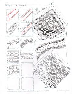 keystone tangle pattern