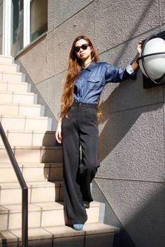 Hiroko Kuronuma...love that high-waisted pant with those pockets.