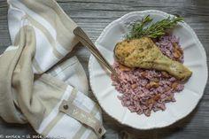 Cosce di pollo arrosto con riso uvetta e noci