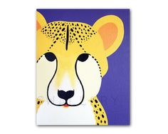 Cheetah Print for baby nursery. 8x10 modern safari by Wallfry, $18.00 - inspiration for more animals to add to Little Trunk's Safari series