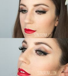 Maquillaje delineado rasgado: https://www.youtube.com/watch?v=QDdHR0wCouo