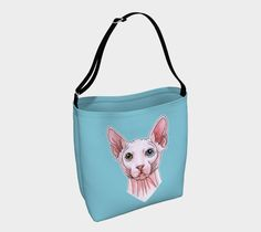 Sphynx cat portrait Day Tote by @savousepate on Art of Where #catlover #totebag