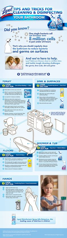 Tips & tricks for cleaning and disinfecting your bathroom -- I didn't know a lot of this stuff...