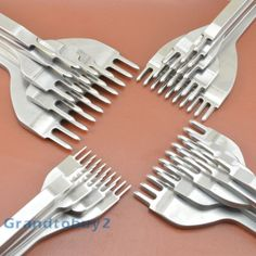 Diamond-Chisel-1-2-4-6-10-Prong-LeatherCraft-Pro-Line-Pre-Stitching-Working-Tool