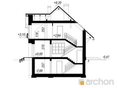 Dom w lucernie (P) Floor Plans, Projects, Floor Plan Drawing, House Floor Plans