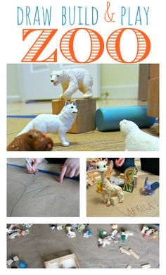 Block Zoo Pretend Play - design and create your very own zoo. { Includes book recs about the zoo }