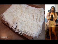 QUICK & Easy lace shorts made from a reclaimed pair of pants.