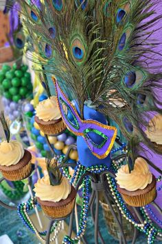 Peacock Mardi Gras Party Ideas | Photo 1 of 37 | Catch My Party