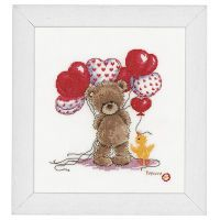 Popcorn the Bear and Balloons Counted Cross Stitch Kit