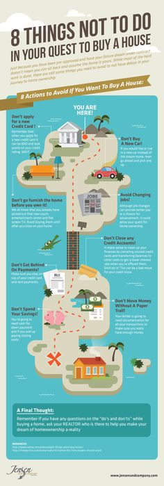 8 Things Not To Do In Your Quest To Buy A House #infographic #RealEstate #HomeImprovement