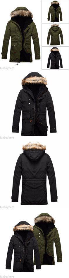 Men Coats And Jackets: Mens Overcoat Jacket Double Breast Parka