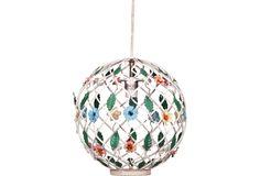 Metal Lattice Globe Chandelier - One Kings Lane - Vintage & Market Finds - Lighting - for mj's big girl room