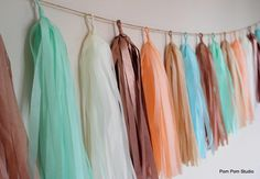 9ft Tassel Garland - 18 Tassels - You choose colours (Over 60 colours) Wedding/Party Decorations - Shop Displays. £27.00, via Etsy.