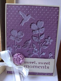 Blast from the Past.. remember this?  3D stamping with the Wildflower Meadow stamp