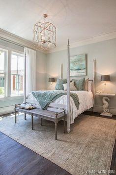 Pretty coastal bedroom