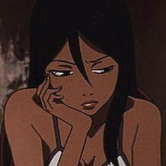 Girl Cartoon Characters, Black Anime Characters, Cartoon Icons, Cartoon Art, Black Girl Cartoon, Black Girl Art, Anime Angel, Aesthetic Art, Aesthetic Anime