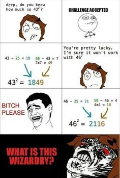 funny rage comic, math problems