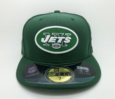 NEW YORK JETS NFL ON FIELD NEW ERA 59 FIFTY FITTED HAT/CAP (SIZE 7) -- NEW…