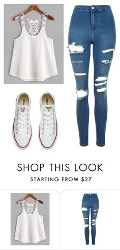 """Untitled #494"" by cuteskyiscute ❤ liked on Polyvore featuring Topshop and Converse"