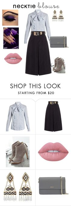 """""""She rules"""" by unpocoboho on Polyvore featuring RED Valentino, Lost Ink, WithChic, Lime Crime, Shourouk and DKNY"""