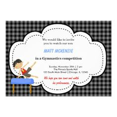 Sold this #gymnastics invitation to CA. thanks for you who purchased it.