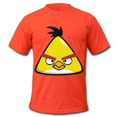 8844623ebdb Yellow Angry Bird Chuck Short Sleeve T-shirts on Sale-Geek T-shirts price  as low as  5.99