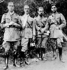 Frente de batalha da Revolução de 32: Juscelino Kubitschek, Bayard Lucas de Lima, Pinto de Moura e Flávio Neves