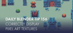 Daily Blender Tip How to correctly display pixel art textures - BlenderNation Texture Art, Pixel Art, Tutorials, Display, Writing, News, Floor Space, Billboard, Being A Writer