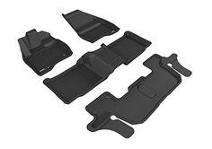 3D MAXpider Custom Fit Complete Floor Mat Set for Select GMC Canyon Models Kagu Rubber Black