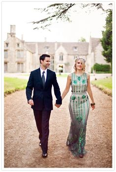 I love green!!! :)  Utterly Gorgeous Coloured Gowns for the Unconventional Bride