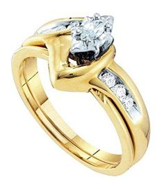 0.24 cttw 14k Yellow Gold Diamond Marquise Bridal Set Marquis Engagement Ring Sets CLOSEOUT - http://www.loveuniquerings.com/yellow-gold-engagement-rings/0-24-cttw-14k-yellow-gold-diamond-marquise-bridal-set-marquis-engagement-ring-sets-closeout/