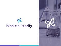 Bionic Butterfly Logo Design by Oleg Coada