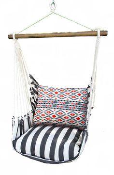 Black Stripe Swing Chair