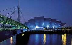 The Clyde Auditorium, familiarly known as the Armadillo