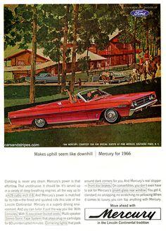 1966 Mercury - Makes uphill seem like downhill - Original Ad