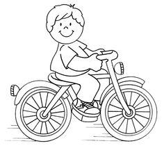 Kleurplaat: fietser