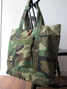 Recycled Camo Army Tote