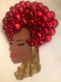 Wreath Crafts, Diy Wreath, Diy Crafts, Holiday Wreaths, Christmas Decorations, Head Wreaths, Mannequin Art, Black Art Painting, African Crafts