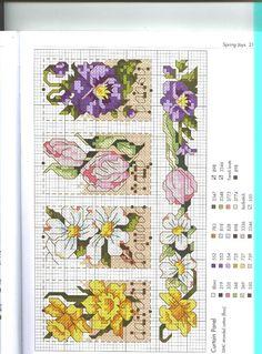 Cross-stitch Flowers patern