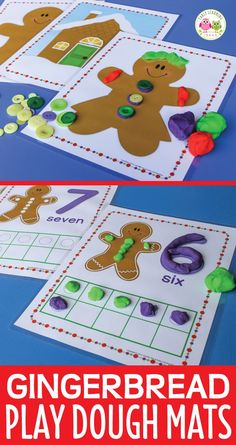 Gingerbread man play dough activities for preschool, pre-k and kindergarten. Perfect for your play dough centers, math centers, learning stations, and math tubs. Provides hands-on math learning and fine motor practice. Perfect for your gingerbread man lesson plans, gingerbread theme units, and Christmas theme centers. Gingerbread man activities, gingerbread math activities, gingerbread man games